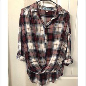 Francesca's Plaid Shirt